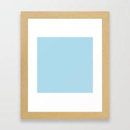 Solid Light Coral Blue Color Framed Art Print