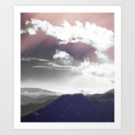 Galaxy Mountain #society6 #buyart #decor Art Print