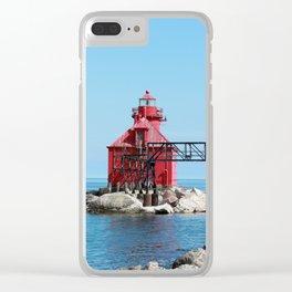 Sturgeon Bay Ship Canal North Pierhead Light House Clear iPhone Case