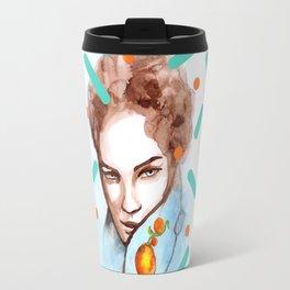 Watercolor glance Travel Mug