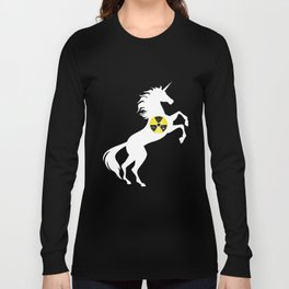 Unicorn Radioactive Symbol Radiation Unicorn Long Sleeve T-shirt