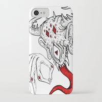 devil iPhone & iPod Cases featuring devil by Ichsjah