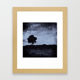 Purple Lone tree Framed Art Print