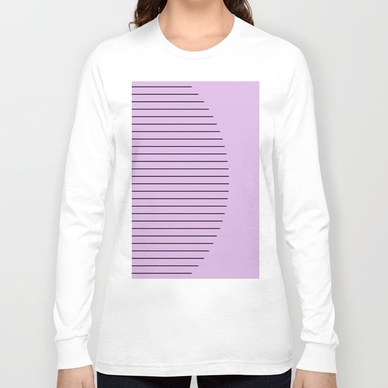 Crescent - Pastel pink and black minimalism Long Sleeve T-shirt
