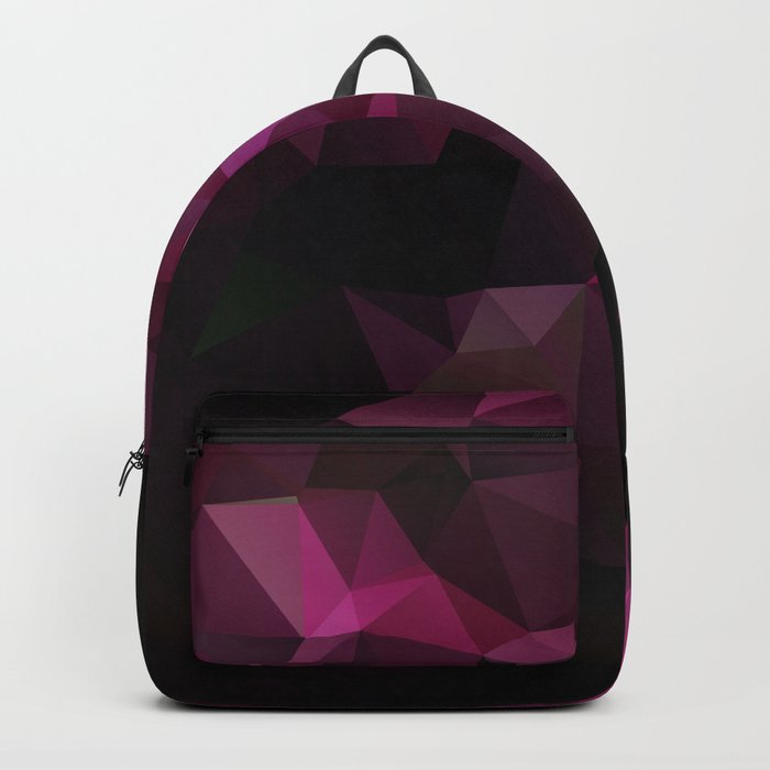 Abstract background of triangles polygon design bright colors Backpack