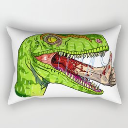 Dino Approves Rectangular Pillow