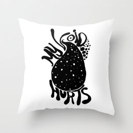 My Void Hurts Throw Pillow