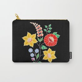 Hungarian placement print - black Carry-All Pouch