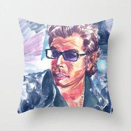 """Jurassic Park : Jeff Goldblum/Ian Malcom : """"Chaotician 4 / 4"""" Throw Pillow"""