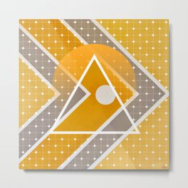 Fish - triangle sunset Metal Print