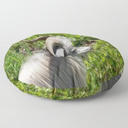 Side View of A Billy Goat Grazing Floor Pillow