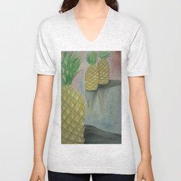Festive Pineapples Unisex V-Neck