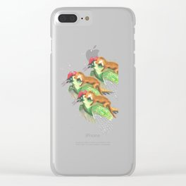 Weasel Riding Woodpecker Gang Clear iPhone Case