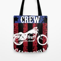 sons of anarchy Tote Bags featuring Sons of Anarchy - Reaper Crew by QINdesign