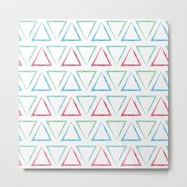 Triangular Peaks Pattern - Teal, Green, Red, & Blue #546 Metal Print