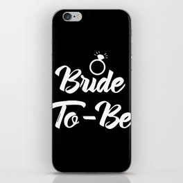 Baesic Bride-To-Be (Black & White) iPhone Skin
