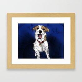 Smiling Dog Framed Art Print