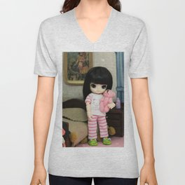 Maria Helena's bedroom Unisex V-Neck