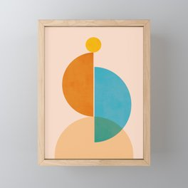 Abstraction_SUN_Rising_Minimalism_001 Framed Mini Art Print