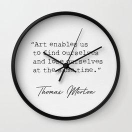 Thomas M. quote Wall Clock