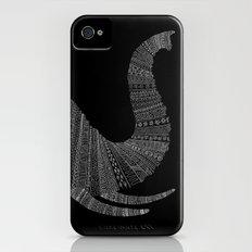 Elephant (On Black) Slim Case iPhone (4, 4s)