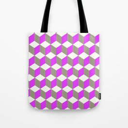 Diamond Repeating Pattern In Ultra Violet Purple and Grey Tote Bag