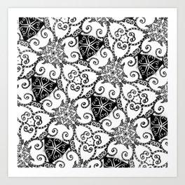 Candy Cane Tangle Art Print