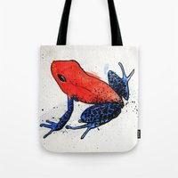 frog Tote Bags featuring Frog by Jacob Haynes