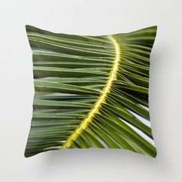 Green Palm-Leafes of Sicily Throw Pillow