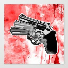 Triple Revolver (left) Canvas Print