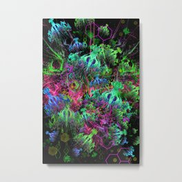 Alien Dragonfly Orchid Colony Metal Print