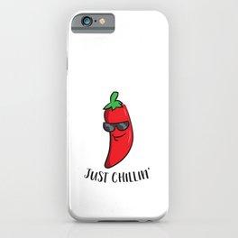 Just Chillin Love Chilis Cinco De Mayo Funny Chili iPhone Case
