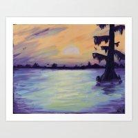 Bayou Sunset Art Print