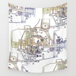 Mechanical Diagram Wall Tapestry