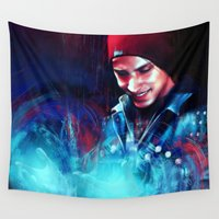 infamous Wall Tapestries featuring Delsin Rowe by Kate Dunn
