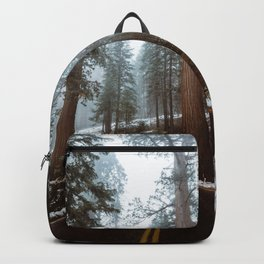 Foggy Forest Road Backpack