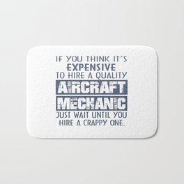 Aircraft Mechanic Bath Mat