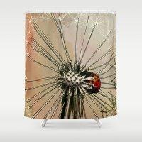 ladybug Shower Curtains featuring Ladybug  by Jonas Ericson