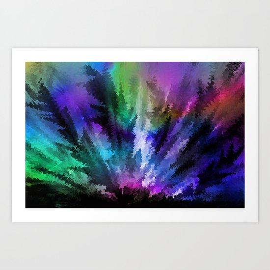 Rainbow colors. Art Print