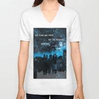 john green V-neck T-shirts featuring Paper Towns John Green  by denise