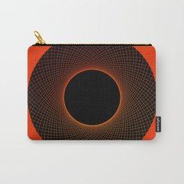 Tangerine Vortex Orange Carry-All Pouch
