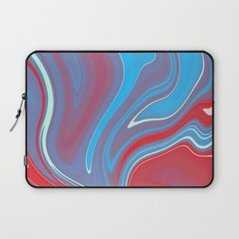 Blue Red Marble 1 Laptop Sleeve