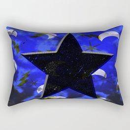 Black Star at Night Rectangular Pillow