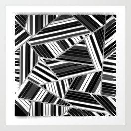 Triangles Black & White Art Print