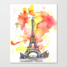 Eiffel Tower in Paris France Canvas Print