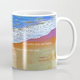 """Waves Of Rincon Beach #2"" with poem: Enduring Ocean Coffee Mug"