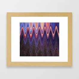 Sunset Trees in Abstract Framed Art Print