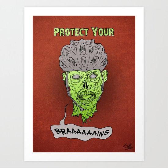 Zombie Brains Art Print