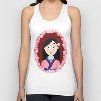 mulan Tank Tops featuring Mulan  by Joey Ellson