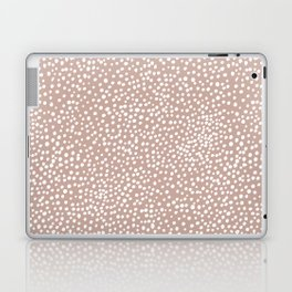 Little wild cheetah spots animal print neutral home trend warm dusty rose coral Laptop & iPad Skin